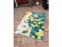 rug , blockbuster pattern good condition