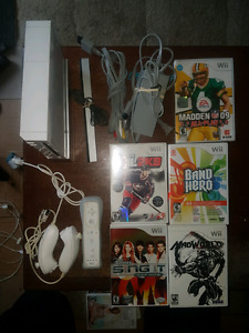Nintendo Wii system and 7 games