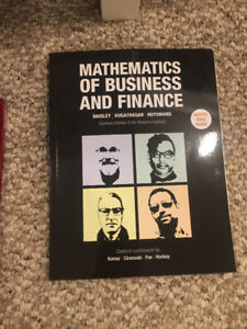 Mathematics of business and finance college text book