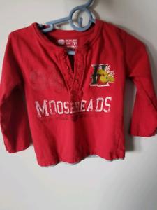 Moosehead toddler shirt size 2
