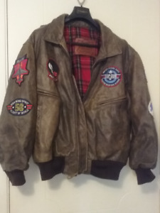 Top Gun Aviator Leather Jacket by Mike Mike/Falcone