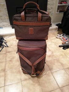 Longchamp Boxford small wheeled suitcase and laptop/document bag