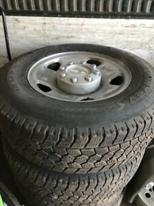 Ford F-250 f350 rims and tires