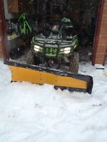 OEM Arctic Cat snow plow with hook up.