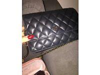 Chanel small black hand bag