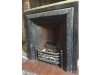 Original Cast iron Victorian/Edwardian fireplace insert.