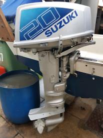 Suzuki 20hp longshaft outboard boat engine