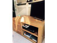 Solid Oak TV & Media Unit