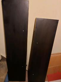 Ikea LACK shelves black x2 and white x2