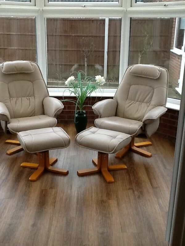 Swivel chairs and foot stools