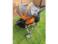 Baby jogger city mini pushchair with raincover and footmoof