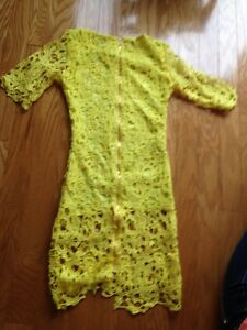Sexy Round Neck 1/2 Sleeve Spliced Hollow Out Lace Women's Dress Edmonton Edmonton Area image 2