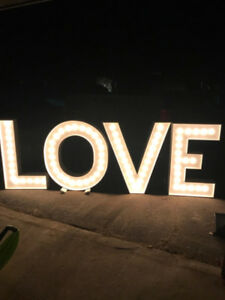 4' LOVE Marquee Letters available for rent!