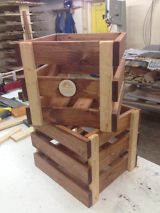 Wooden Crates Free Personalization & Made to Order  Wooden boxes