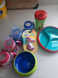 Dishes, sippy cups & more