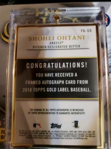 2018 Topps Gold Label Shohei Ohtani Auto