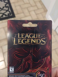 LEAGUE OF LEGENDS 50$ gift card