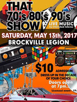 That 70, 80's, 90's Live Show   Saturday May 13th, 7pm $10. Admi