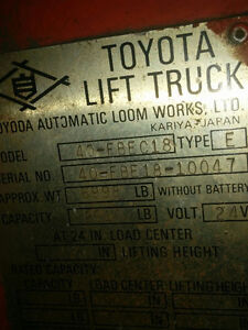 Toyota Forklift Stratford Kitchener Area image 6
