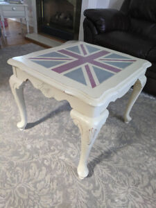 British Union Jack  inspired end table/coffee table.