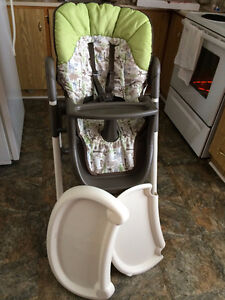 Slim Folds High Chair - Folds,Trays,Heights,Recline,Washable,etc