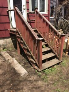 Old deck and steps