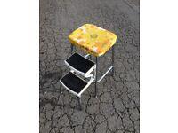 Midcentury kitchen step stool. Retro Vintage