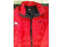 gents red nike padded jacket xxl