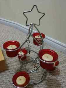 Holiday time candle holder