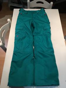 Pantalon neige vert filles 14 ans