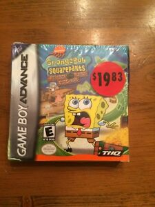 Sealed SpongeBob game GBA