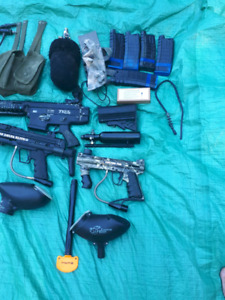 3 Paintball guns and all the gear !!