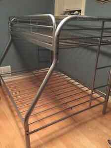 Single over double metal bunk bed