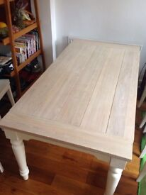 Laura Ashley Dorset White Dining Table in Excellent Condition