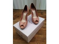 Christian Dior pink heels - size 37 UK 4