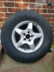225/75/R16 Wheel and Tyre Mercedes ML