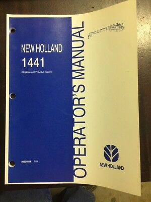New Holland 1441 Discbine Operators Manual