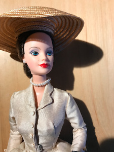 "Barbie Christian Dior's ""new look"" 1950s high fashion. 1997 doll"