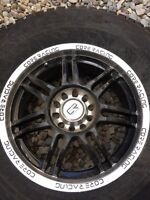 Wheels with winter tires in great shape