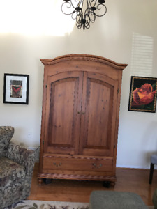 Gorgeous Custom Designed Entertainment Armoire