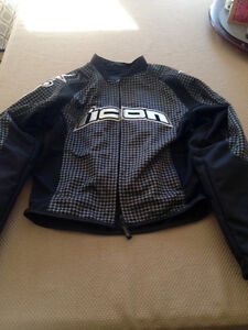 Icon ladies motorcycle jacket small