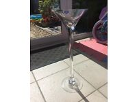6 large Martini Centrepiece Glasses