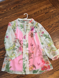 TED BAKER FLORAL BLOUSE FOR SALE - SIZE MEDIUM
