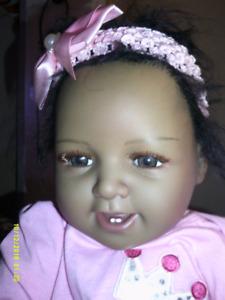 Bébé noir REBORN/ 50cm en vinyl-silicone doux et mou/3lbs/NEUF.