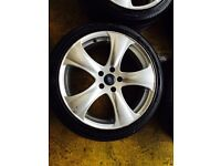 "18"" PROJECT KAHN ALLOY WHEELS FOCUS MONDEO GALAXY CONNECT SET OF 4"