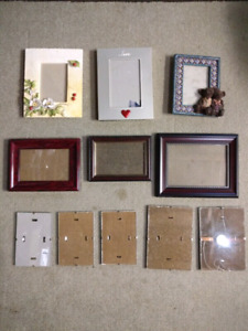 Many picture frames. See all photos posted.