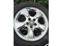 Jaguar S type Alloys & Pirelli P6000