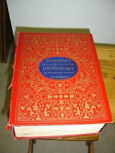 Antique Webster's Dictionary – 1964 printing