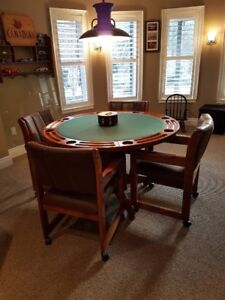 Poker table and chairs