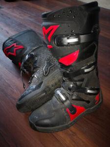 Alpinestars Tech 3 All-Terrain Boots Motocross Motorcycle Black